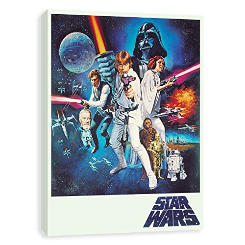 Star Wars A New Hope Vintage Movie Poster Style Collage Prin