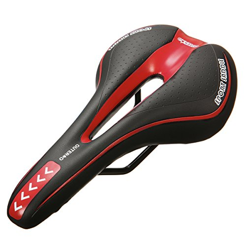 OUTERDO Bike Saddle Mountain Bike Seat Breathable Comfortable Bicycle Seat with Central Relief Zone and Ergonomics Design Fit for Road Bike and Mountain Bike (Road Mountain Bike)