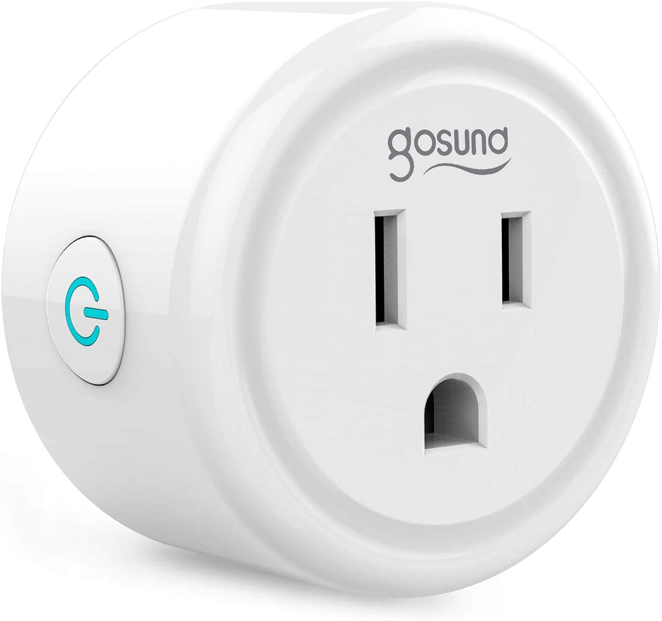 Mini Smart Plug Gosund WiFi Outlet Works with Alexa Google Assistant, No Hub Required, ETL and FCC Listed Only 2.4GHz WiFi Enabled Remote Control WiFi Smart Socket - -