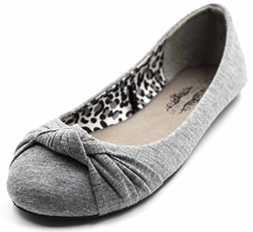 Charles Albert Women's Knotted Slip on Ballet Flats in Grey Size: 9