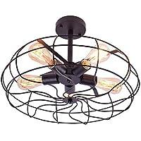 Lingkai vintage Lámpara de techo industrial lámpara de araña rusticas para sala de estar,…