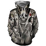 Yuehen Skeleton Poker Hoodies Men Women Autumn Winter Sportswear Tracksuit Moleton