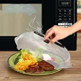 Microwave Anti-Sputtering Cover, New Food Splatter Guard Microwave Splatter Lid with Steam Vents | 11.5 – Inch