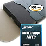 Sandpaper Grit 120 | 9'' x 11'' | 100 Sheets | Wet Dry | Wood Metal Automotive