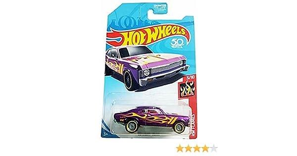 /'68 CHEVY NOVA lila Flammenmuster Hot Wheels US-Oldtimer HW Flames 2018NEU