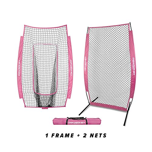 PowerNet I-Screen w/Frame + Infielder Net Bundle (Pink)