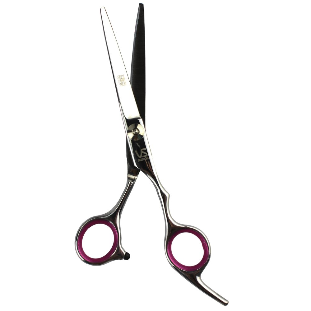 EYX Formula Stainless steel Hair Cutting Scsisor for Professional Hairdresser; Hair Shears for Hair Trimmer At Home (Pink Regular Scissors)