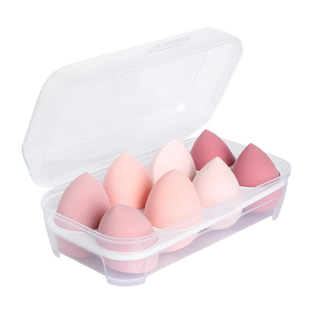 Mystic Orchard 8 PCS Dry and Wet Use Makeup Sponge Set, Beauty Blender,Makeup Sponges for Liquid,Powder, Cream, Multi-shape Foundation Makeup tools Makeup Egg Set With Gift Box