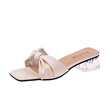 810fec1c185 Amazon.com: Peigen Womens Sandals Fashion High Heel Thick Sandals ...