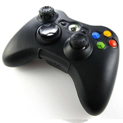 322 opinioni per Pandaren® Pelle cover skin per il Xbox 360 controller(nero) x 1 + pollice presa