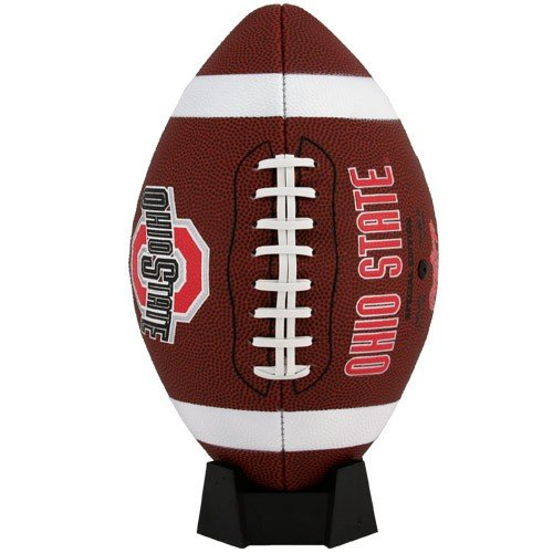 NCAA Game Time Full Size Football , Ohio State Buckeyes, Brown, Full Size (Ohio Athletics Football State)