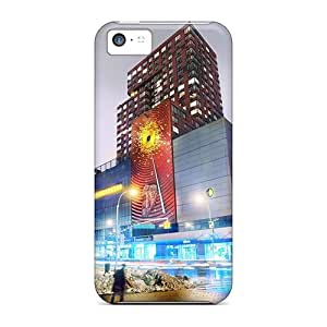 Hill-hill Iphone 5c Well-designed Hard Case Cover 14th Broadway In Manhattan In Winter Protector