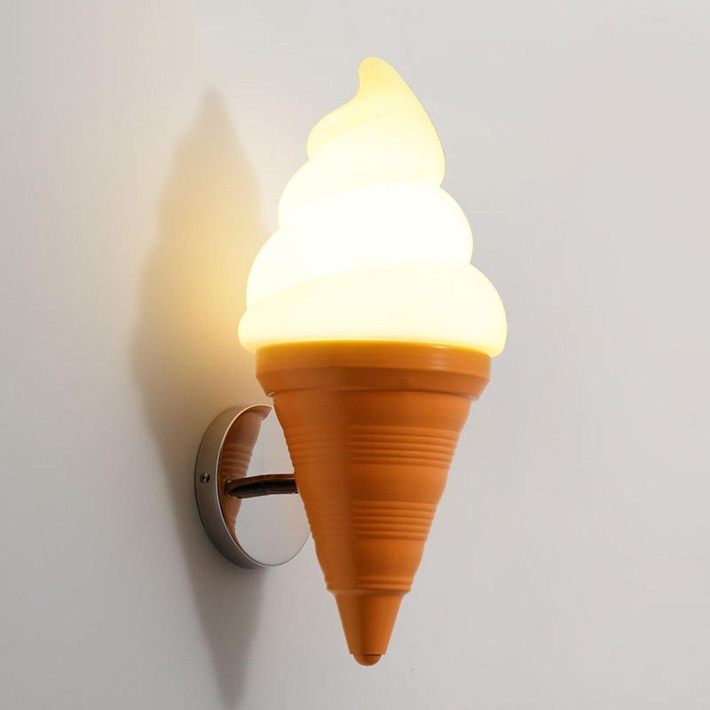 Ice Cream Cone Adjustable Conical Wall Lamp Modern Dessert Shop Children's Room Cafe Restaurant Bar E27 Creative Wall Light Size: 19 43CM ( UnitCount : NUM1 )
