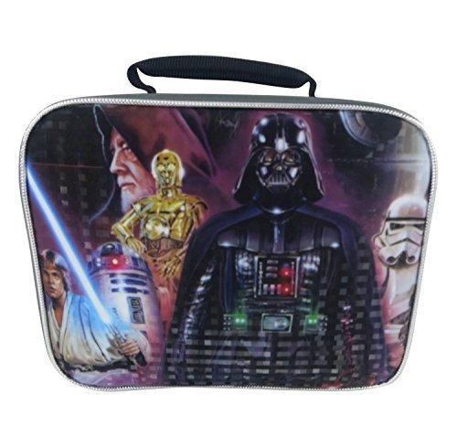 (Disney Star Wars WSCOR18ZA Rectangular Lunch Bag, Gray)