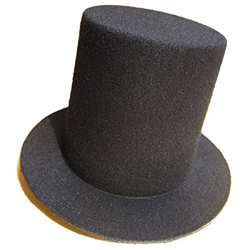 Top Hat Fascinators (Lawliet Mini Top Tall Hat Fascinator Base Alligator Clips Millinery Craft (Black))