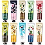 Ownest 10 Pack Plant Fragrance Hand Cream Moisturizing Hand Care Cream Travel Gift Set With Natural Aloe And Vitamin E…
