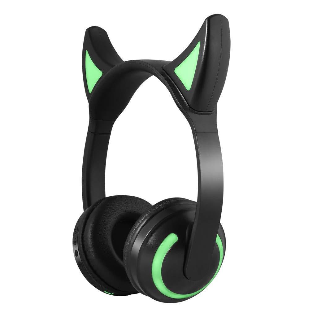 HighlifeS/_Bluetooth Earphone Universal LED Seven-Color Illuminated Stereo Headphone Bluetooth Headset