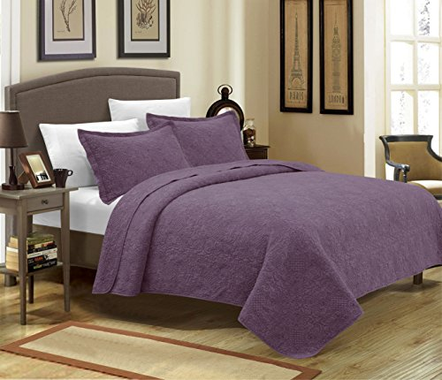 Mk Collection 3pc Crafted and quilted Bedspread with New