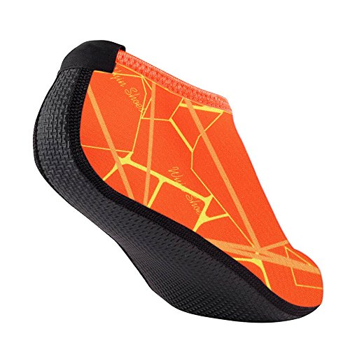 Coohole Hot Sale ! Men Women Outdoor Water Sport Diving Swim Socks Yoga Socks Soft Beach Shoes Exercises (Orange, - Triathlon Equipment Uk