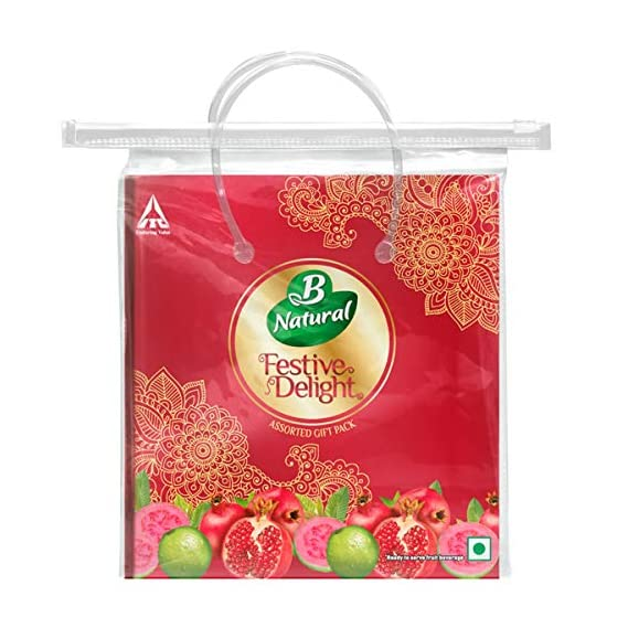 B Natural Festive Delight Festive Delight Utility Gift Pack with Plastic Container, 2 L