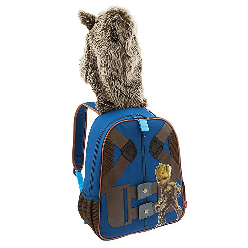 Rocket And Groot Costumes (Marvel Rocket Raccoon Hooded Backpack for Kids - Guardians of the Galaxy Vol. 2)
