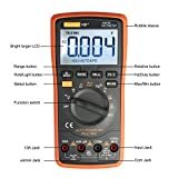 Auto Ranging Digital Multimeter TRMS 6000 with Battery Alligator Clips Test Leads AC/DC Voltage/Account,Voltage Alert, Amp/Ohm/Volt Multi Tester/Diode and Continuity Test HZ Backlight LCD Display