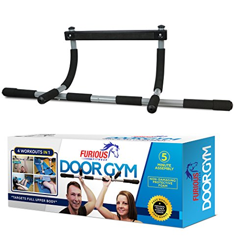 Furious Fitwear Door Pull up Bar for Doorway or Doorframe Pull-up and Chin-up Exercises - Portable Heavy Duty Iron Pull-ups Gym for Men & Women for Perfect Home and Travel Fitness