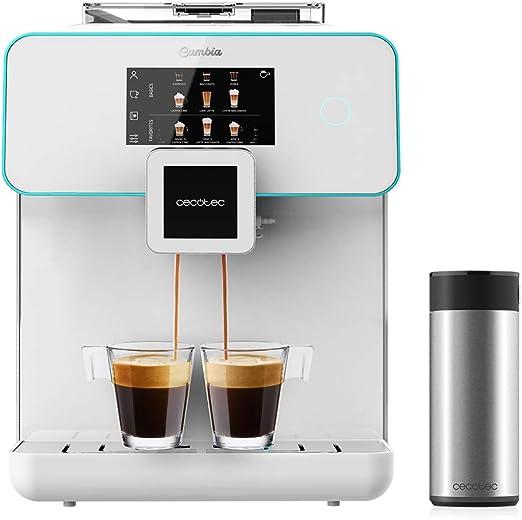 Cecotec Cafetera megautomática Cumbia Power Matic-ccino 9000 Serie Bianca. Personaliza Intensidad, Temperature, café, Leche y Espuma,19 Bares de presión, Pantalla LED, 5 Niveles de molido: Amazon.es: Hogar