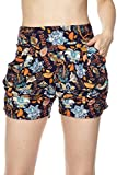 Bellarize Women's Premium Ultra Soft Harem Shorts with Pockets - Multiple Styles (Winter Forest, Small/Medium)