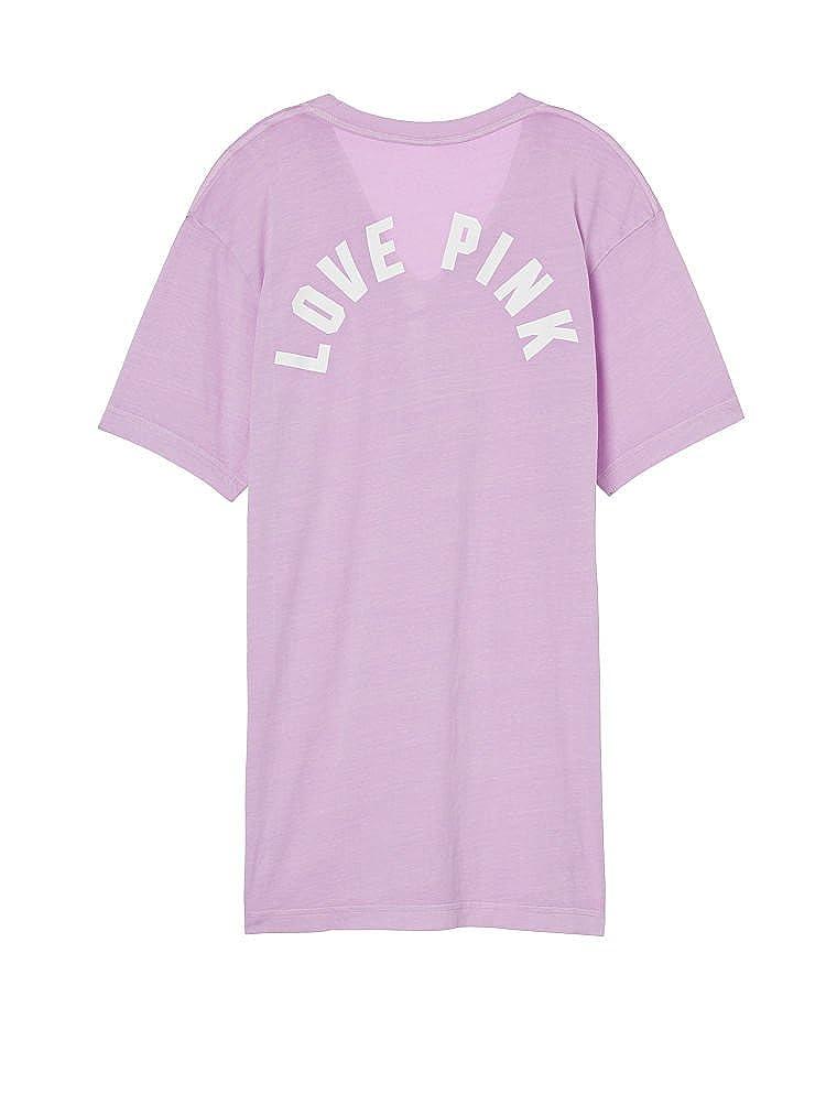 Victorias Secret Pink Campus Lace-Up Tee Purple Petal