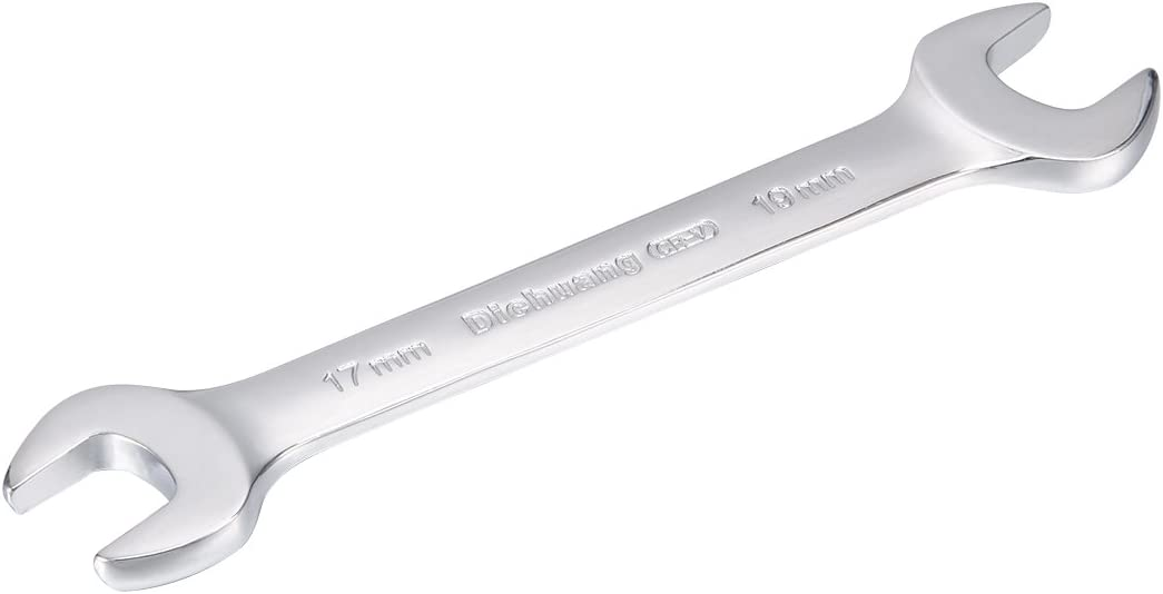 uxcell/® Metric Double Open End Wrench 17mm x 19mm
