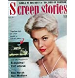 SCREEN STORIES magazine May 1955 KIM NOVAK cover. Inside articles and photos include Clark Gable, Edward G. Robinson, Ginger Rogers, Maureen O'Hara, Gregory Peck, Rock Hudson and wife. All magazines shipped in a protective-archival sleeve.
