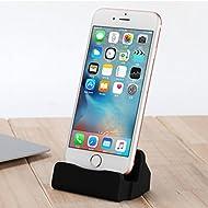 Aursen avec câble Dock foudre Chargeur station de recharge pour iPhone bureau Support téléphonique de 7 / iPhone 6s / iPhone 6 / iPhone 5s - Noir