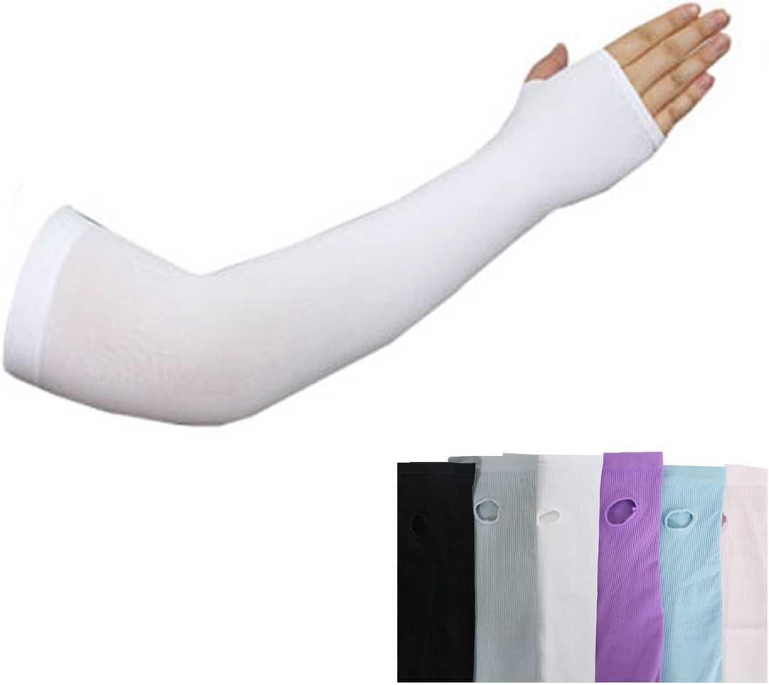 UV-Schutz-Armlinge mit Hand sch/ützt gegen Sonneneinstrahlung beim Sport und k/ühlt 1/Paar