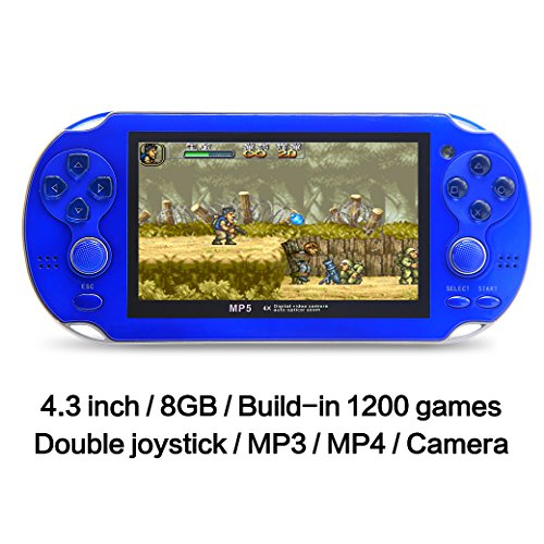 JXD 4.3 Inch 32Bit Video Game Console 8GB Built-in 1200 N...