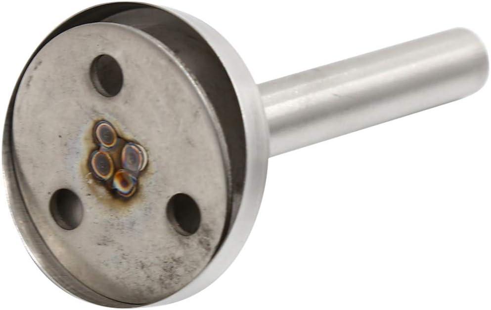 Kissherely Support de Poteau de Soutien de Plancher de Plancher de Pince en U 304 pour de Verre 8-10mm avec Tige de 14 * 80mm