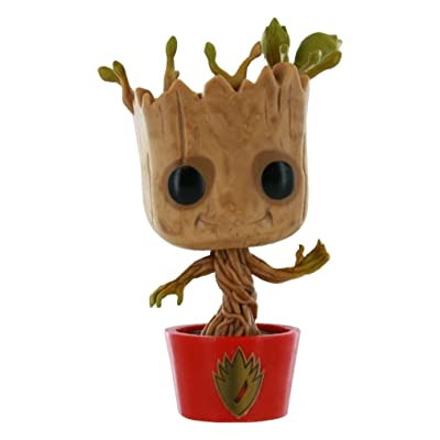 Funko Marvel Guardians of the Galaxy POP! Marvel Dancing Groot Exclusive Vinyl Bobble Head #65 [Red Pot with Ravagers Logo]: Btq-Guardians of the Gala: Toys & Games