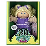 Cabbage Patch Kids Vintage Doll - Limited Edition 30th Birthday -Blonde Hair with Purple Overalls by Cabbage Patch Kids