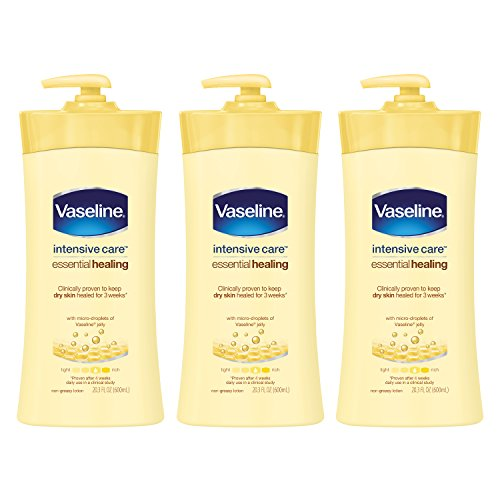 Vaseline Intensive Care Body Lotion, Essential Healing 20.3 oz, 3 Count