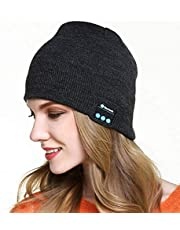 RabbitStorm Bluetooth 4.2 Música Sombrero de Punto Cálido Invierno Bluetooth Frío Auriculares Sombrero, Unisex Winter Warm Knitted Hat Trendy Cap with Stereo Headphone Headset Speaker Mic Hands-free for Sports Workout Best Christmas Gifts (Gris oscuro)