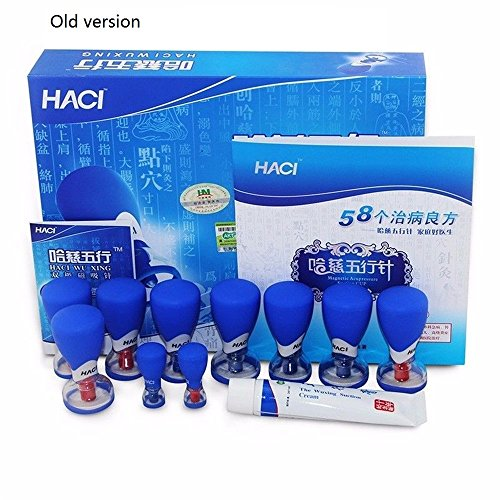 10 PCS HACI Wuxing Needle Bipolar Magnetic Acupuncture Suction Cupping Set Supervisd By China Acupuncture And Moxibustion by Haci