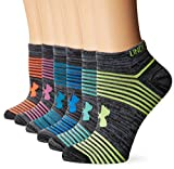 Under Armour Women's Essential Twist 2.0 No Show Socks (6 Pack), Black Assortment, Medium