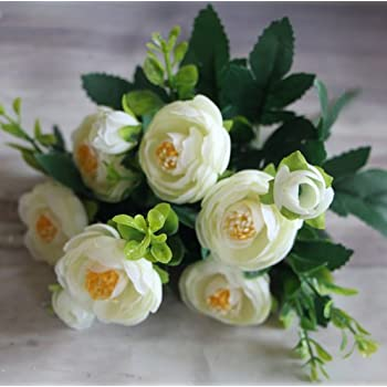 2PCS Peony Artificial Flowers Silk Bouquet Home Decor Gift Ranunculus Lu Lotus Wedding Party Decorations