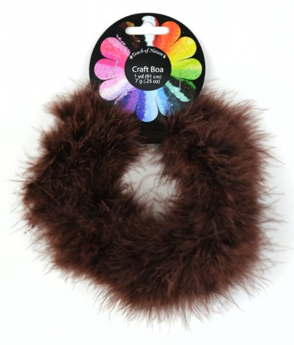 - Touch of Nature 36855 Fluffy Craft Boa, Brown
