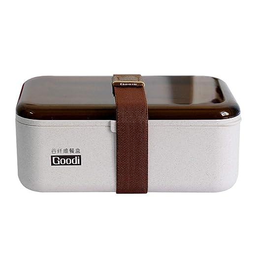 SGHTYJ Fiambrera Lunch Box El material de la paja de trigo japonés ...