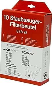 Clatronic SSB 98 Bolsa para el polvo - Accesorio para aspiradora (Bolsa para el polvo, Сlatronic: BS 1222, BS 1230, BS 1250, BS 1264 BS 1272, BS 1275, BS 1284, BS 1287 BS 1295 Bomann:)