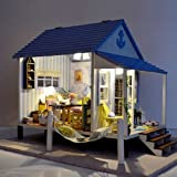 Dollhouse Miniature DIY Kit Light Happy Coast Love Happiness Beach Home House for christmas gift