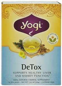 Yogi DeTox, Herbal Tea Supplement, 16-Count Tea Bags (Pack of 6), Garden, Lawn, Maintenance