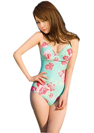 swimsuit Sexy girl piece one asian