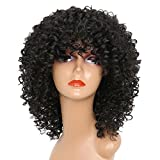 MISSWIG Short Curly Wigs for Black Women Synthetic Afro Curly Hair for African